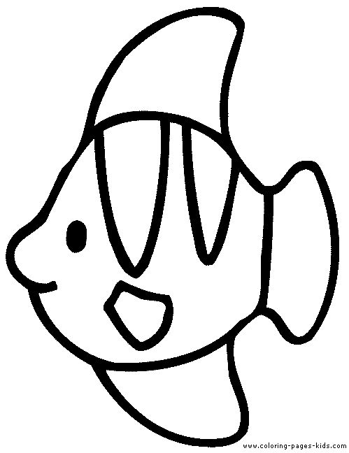 Popular Simple Animal Coloring Pages 44 Fish color page animal