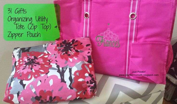 #31Uses  just piddlin': Get Organized with Thirty-One Totes