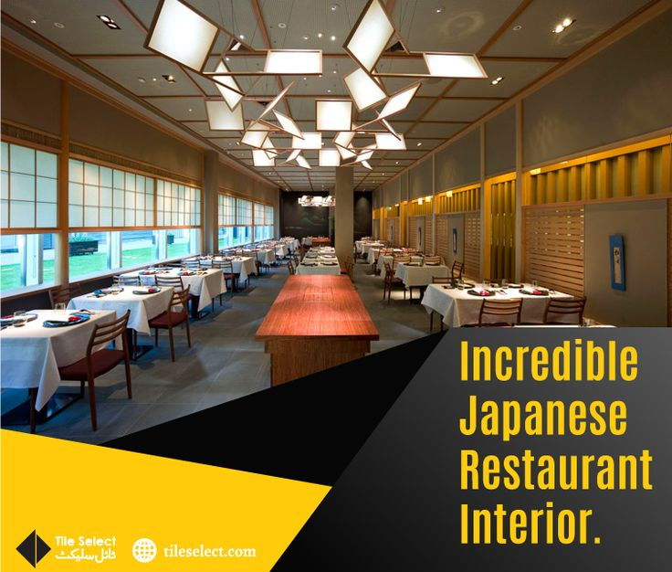 Have a look at this Incredible Japanese Restaurant Interior! The glimmering light work reflects with glamorous gray shad stone look porcelain tiles. Visit Our Nearest Outlet for #Tiles #StoneStyleTiles #StoneLookTiles #HomeInterior, #Interior #PorcelainTiles Address: Main Susan Road, Madina Town, Faisalabad, Pakistan. Contact : 041 8548746 Website: www.tileselect.com Facebook: fb.com/TileSelect