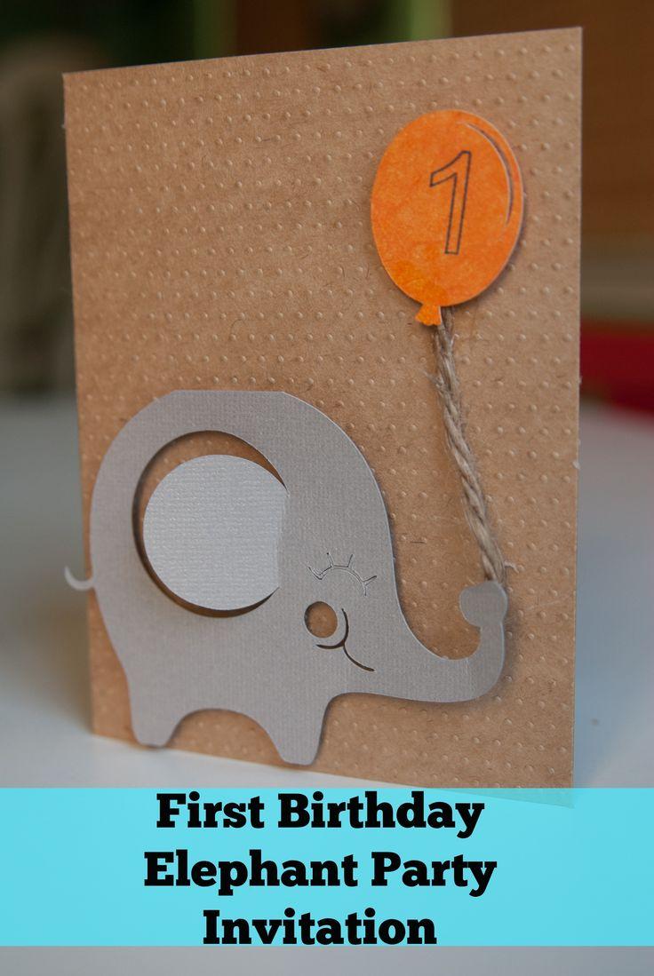 Elephant First Birthday: Invitations & Photo Collage - Simply Stavish