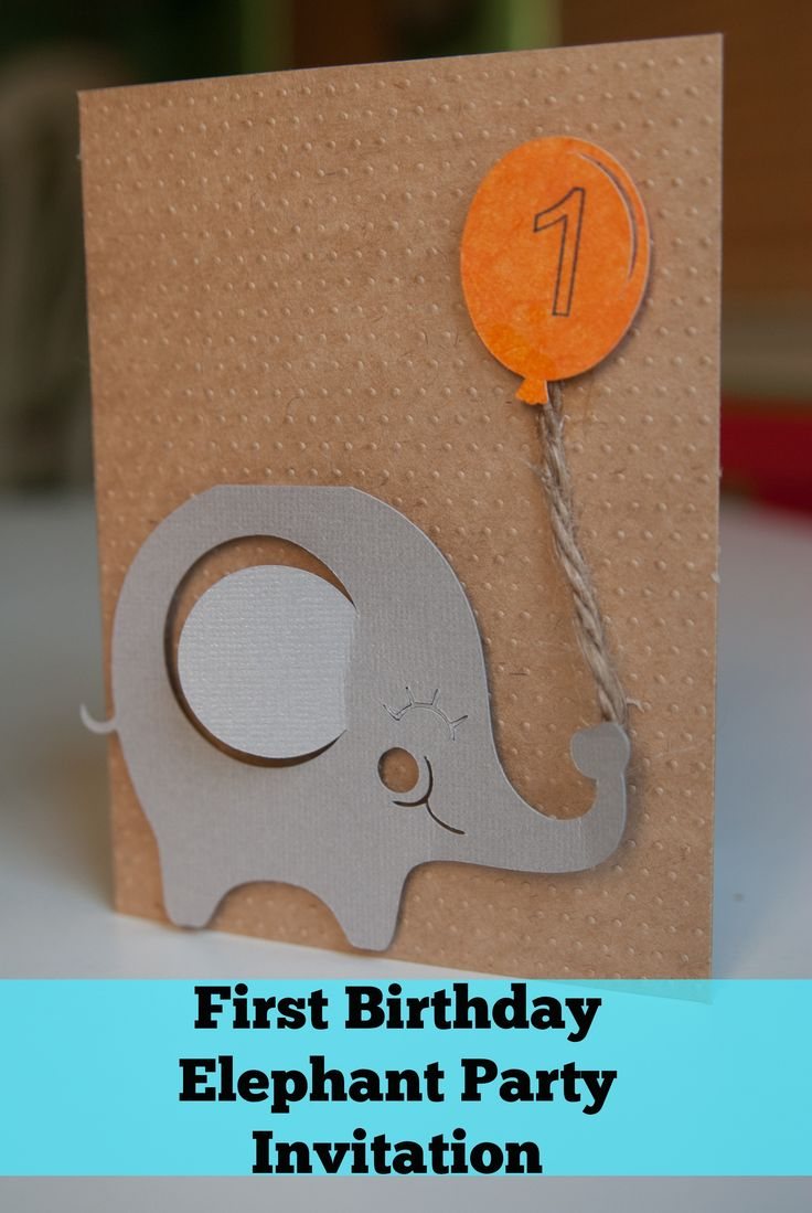 Elephant First Birthday: Invitations & Photo Collage - Simply Stavish