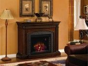 : Beautiful Living Space Stand Lamp Solid Wood Fireplace Mantel Kits On The Excellent Fireplace Mantel Kits Decorated With Precious Ornamen...