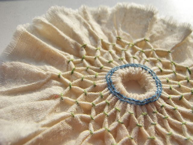 smocked fabric flower (need to try this)