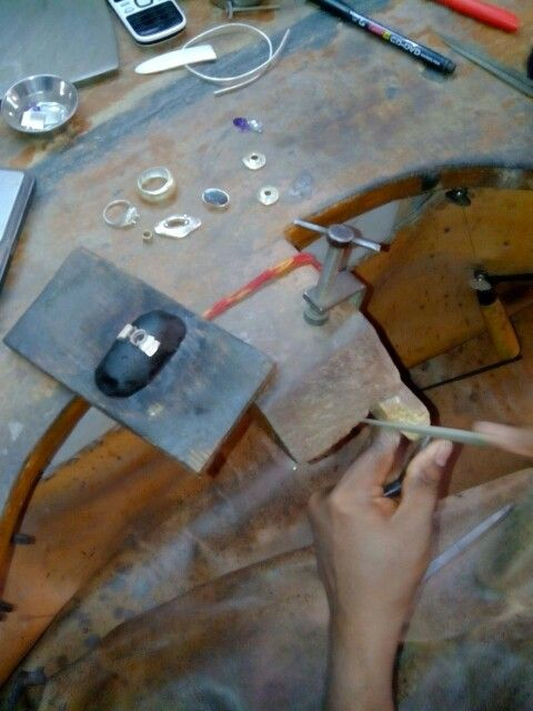 Ring making at my workshop.