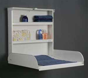 wall changing table. Folds up! Space saver