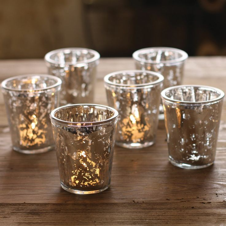 17 Best Images About Mercury Glss Candle Holders On Pinterest Mercury Glass Votive Holder And