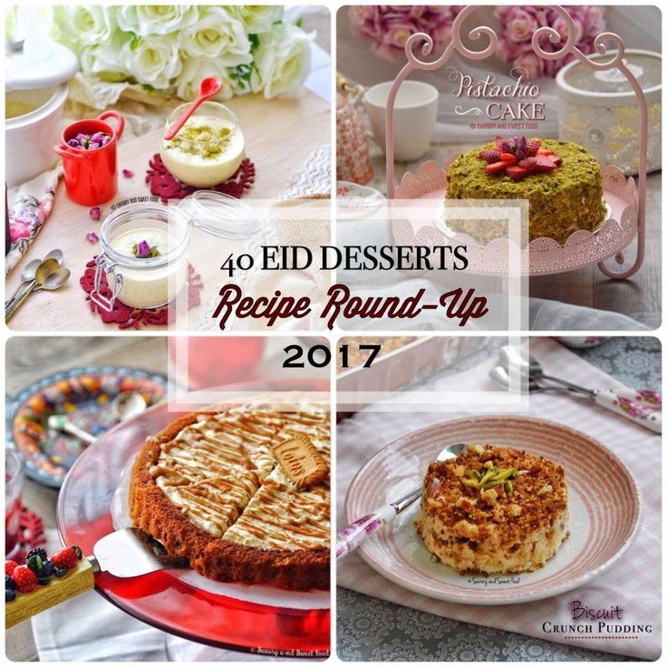 Here goes the big list of EID DESSERTS RECIPE all in one place. Enjoy! :) BREAD KANAFA 2. ZNOUD-EL-SIT 3. CARAMEL TWIX PIE 4. ALMOND AND RICE KHEER 5. BISCUIT CRUNCH PUDDING 6. GULAB JAMUN CHEESECA…