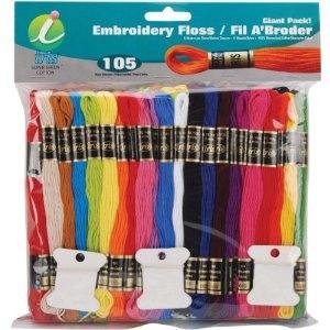 #2: Jumbo Value Pack Cotton Craft Floss - Assorted/105 Skeins.Assorted105 Skein, Art Crafts, Middle School, Pack Cotton, Assorted 105 Skein, Cotton Crafts, Iris 105Pack, Friendship Bracelets, Crafts Floss