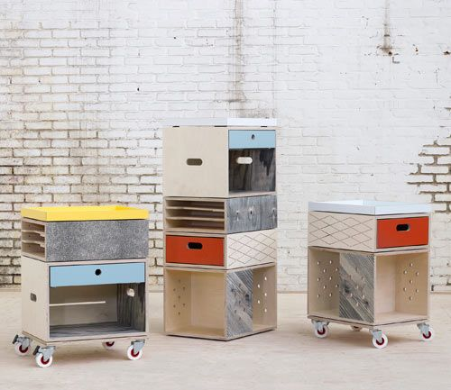 Mix & match!! From Belgian design collective Labt, 'The Trolley' is a modular filing & storage system that allows you to stack different components based on its appeal & your needs. via Design Milk