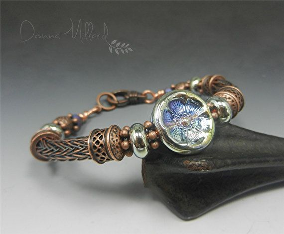 READY TO SHIP! This bracelet is created by the ancient art of weaving ...