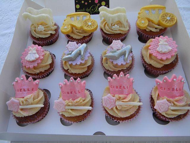 Princess/Cinderella cupcakes by Made By Sonia, via Flickr