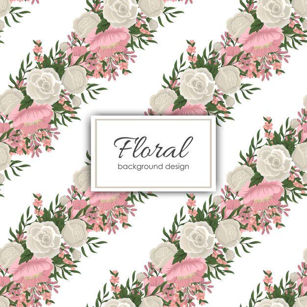 Trendy Seamless Floral Pattern In Vector Premium Vector Freepik Vector Background Pattern Flower Vintage Floral Pattern Vector Floral Background Floral
