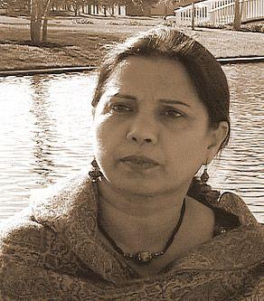 Poet Ishrat Afreen (Pakistan), featured on PI in November 2013.