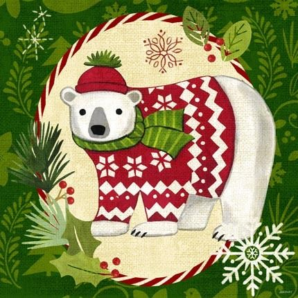 Christmas Critters-Polar Bear by Jennifer Brinley   Ruth Levison Design