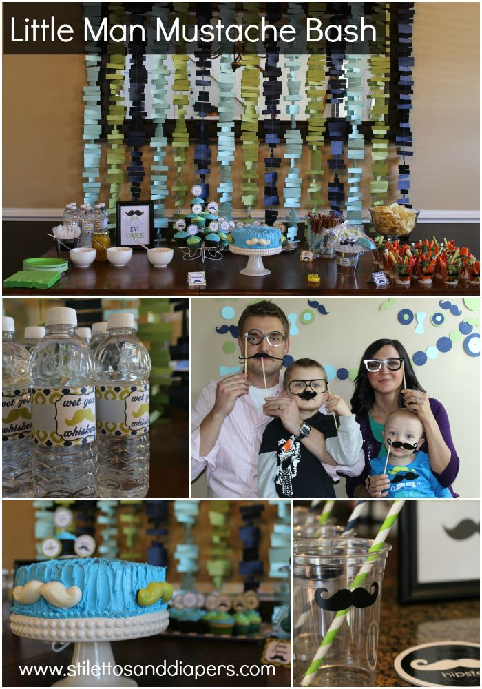 Stilettos and Diapers: Little Man 1st Birthday Mustache Bash!