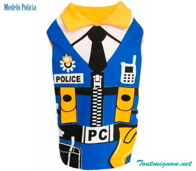 Modelo Policia, ropa y accesorios para perros. Accesorios para mascotas con estilo. Designer dog clothes. Accessories for Pets. www.toutmignon.net