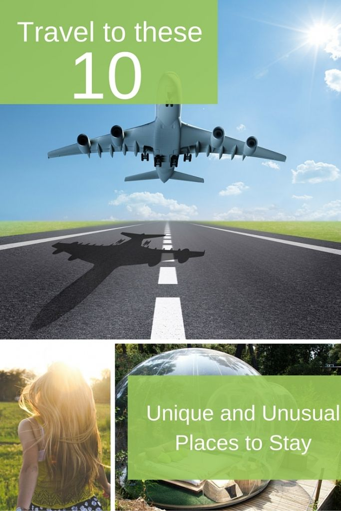 Travel to these 10 Unique and Unusual Places to Stay     Where in the world would you go to experience the most amazing, incredible, unique and unusual hotels and places to visit? While we are all about budget travel tips and bringing you savings, we also love to talk about and share the wanderlust of travel.  Consider traveling to one of these 10 outrageously unique places for your next vacation!