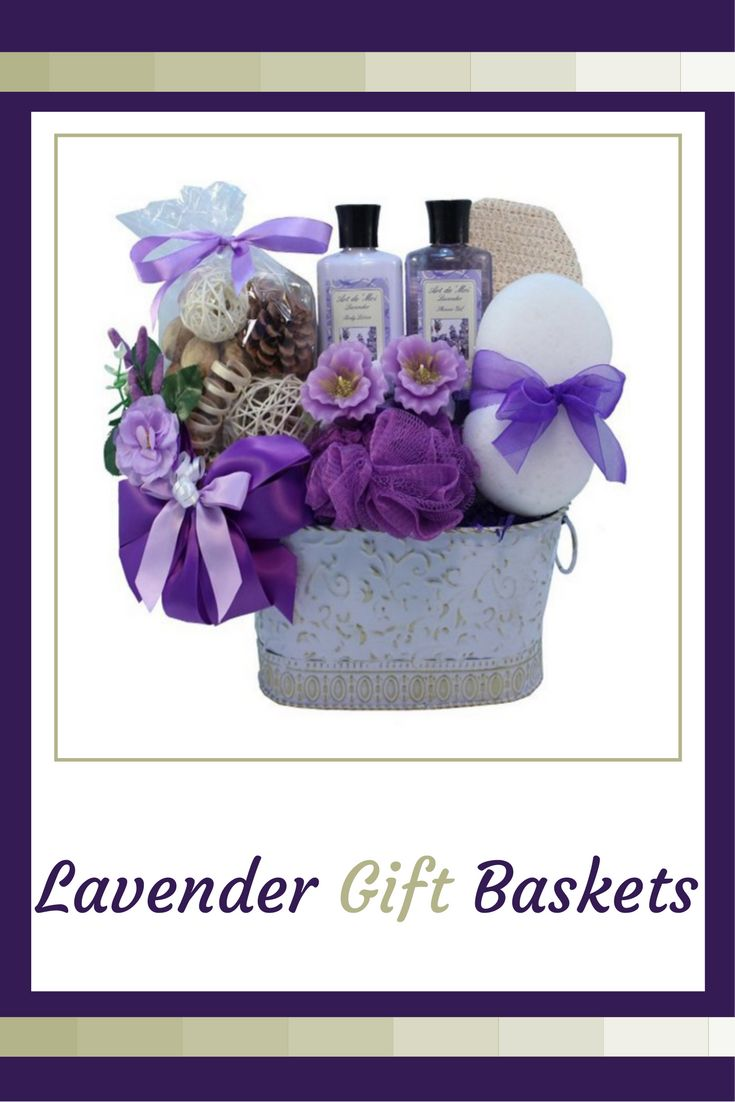 Lavender Lavender gift baskets are a fantastic way of showing thoughtfulness, love and joy. In fact if you want to convey to someone they are special lavender gift baskets are the perfect choice. Due to the fact we all love to feel adored, loved and pampered. Lavender Gift Baskets Lavender Spa Gift BasketGift Baskets