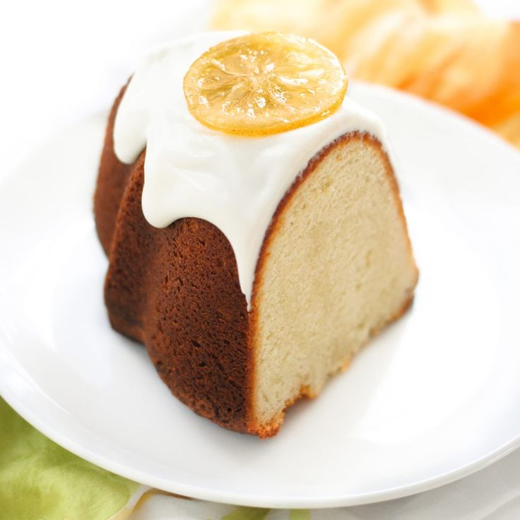 Candied Lemon Bundt Cake. Easy lemon pound cake recipe that packs a powerful lemon punch, topped with a relaxed cream cheese frosting and candied lemon slices.