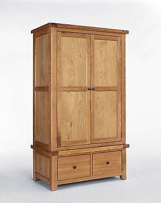 http://bask.yt/?Iu4q8 Devon Oak Gents Wardrobe 2 Door   2 Drawer - Bedroom Furniture £655.98