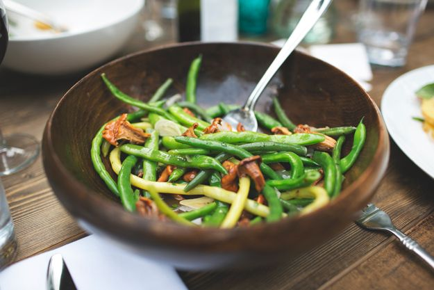 Chantrelle Mushrooms and Green Beans  Urban Garden Gathering Highlights