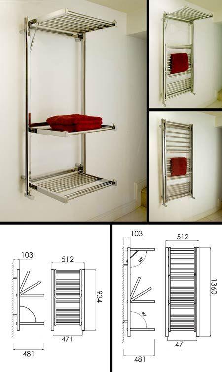 <span style='color: #000000;'>Studio Multi Tier Bathroom Towel Radiator (109J)</span>