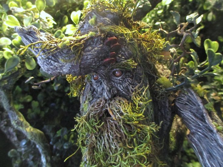 Custom of the electronic treebeard figure.  I added lenght in the legs and changed the beard. And repainted him, of course.