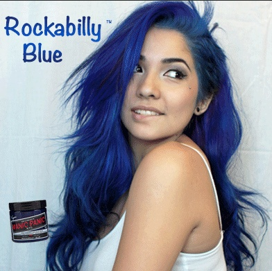I really want to do this but I don't think I'm brave enough!! Manic Panic Rockabilly Blue