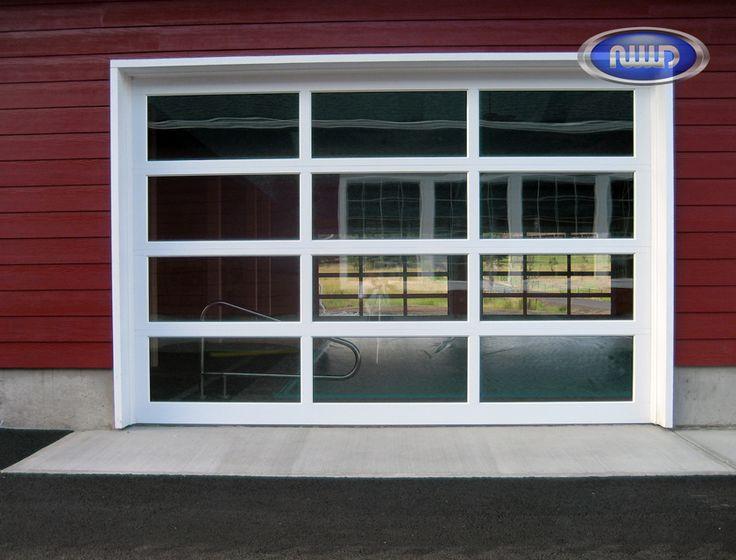 Modern Classic Mc43 White Pc Finish Clear Glass Garage