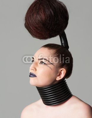 avantgarde hair looks like one of the trees from dr. seuss books