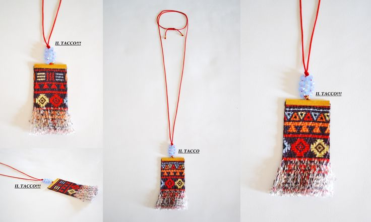 Long necklace!!! Ethnic handmade element!!! Beads and cords!!! Spring time!!! Il Tacco!!!