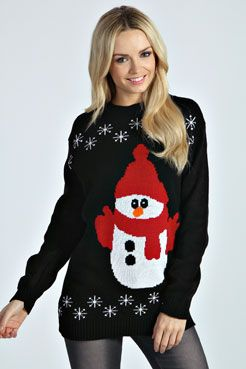 Luisa Snowman Knit Longline Jumper » Great for the sweater parties!