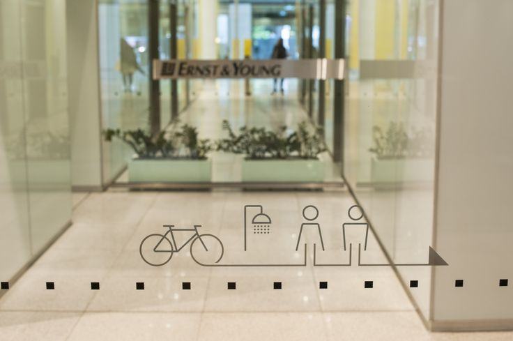 #environmentalgraphics #wayfinding #signage #makecyclingeasy #cycling #endoftrip