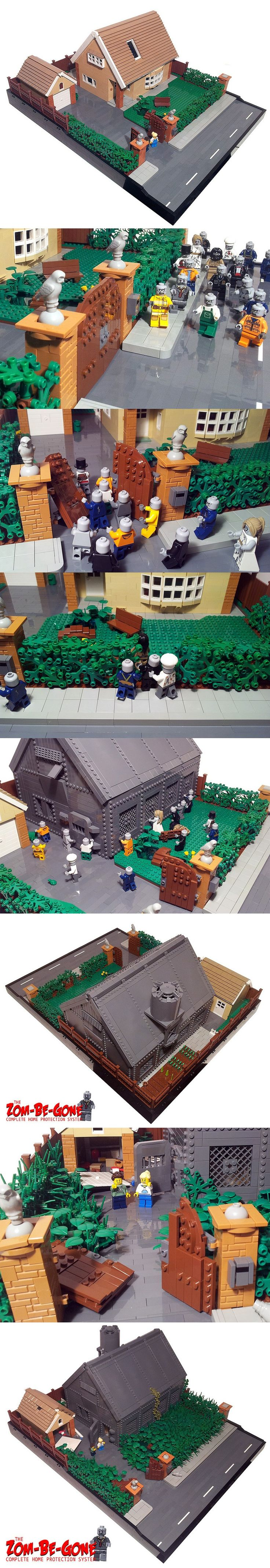 The Zom-Be-Gone Complete Home Protection System #LEGO