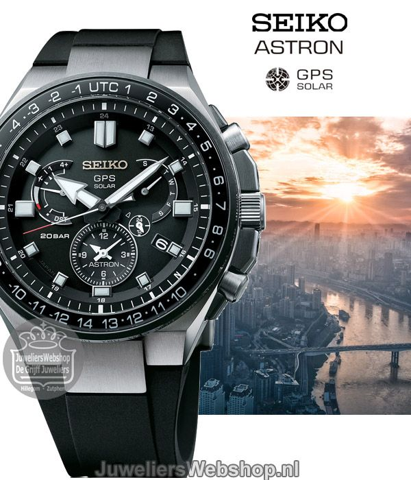 Seiko Astron Executive Sports horloge SSE169J1 GPS Solar