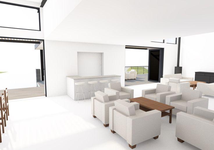 View from front door of open plan living space