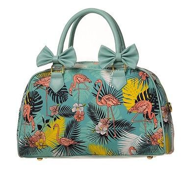 Banned-Handbag-50s-Tiki-Flamingo-Rockabilly-Pin-Up-Girl-Collectif-Style-Bag