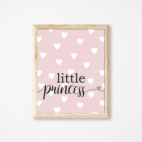 Princess Nursery Print. Digital Nursery Print. Princess Wall