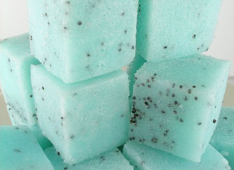 How to Make Sugar Cube Scrubs. These are so cute! Would make a lovely handcrafted natural gift in the right container.