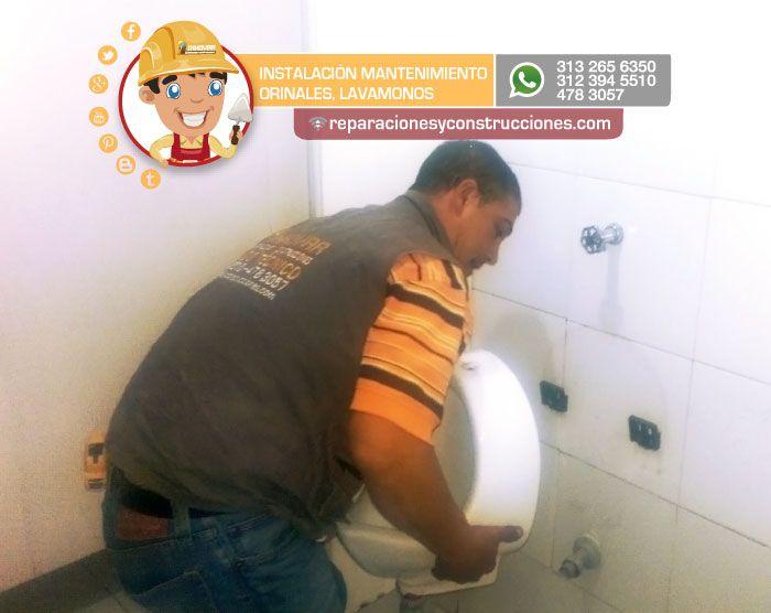Instalacion de orinales #instalaciondeorinales #cisternas #inodoros