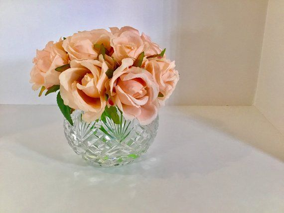 Rose Rosesglass Vase Faux Water Acrylic Illusion Silk Real Etsy Acrylic Vase Real Touch Flowers Vase