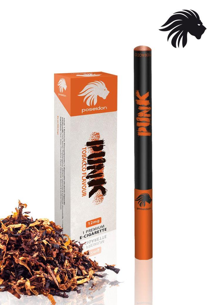 Poseidon - Poseidon Punk Slim Einweg E-Zigarette mit bis zu 500 Zügen, Menthol und Tobacco, 12mg Nikotin