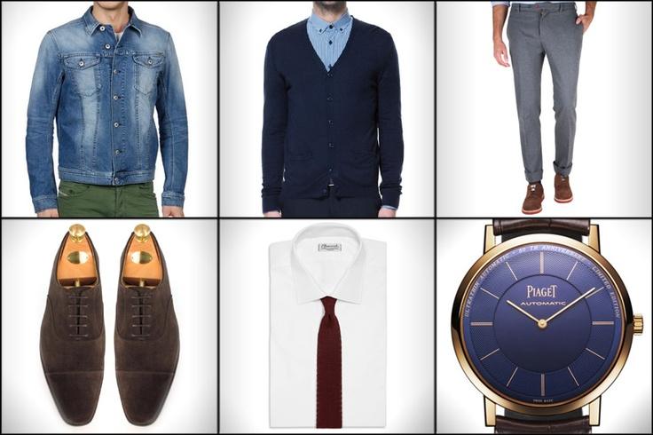 Cazadora: Diesel  Cardigan: Zara  Pantalones: Scalpers  Zapatos: Crockett & Jones  Corbata: Drake's  Reloj: Piaget