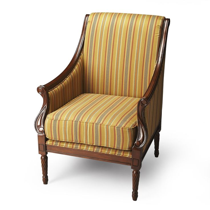 butler wexford accent chair meet your new favorite chair the butler wexford accent chair features topquality upholstery fabric in rich stripes
