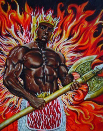 Changó Source: http://101.myyoruba.com Chango is one of the most talked about and most favorable orisha of Santeria. Chango also know as Shango, Sango, Alufina, Xango in Brazil, was a great warrior. He is the orisha of the thunder and thunderbolt. He...