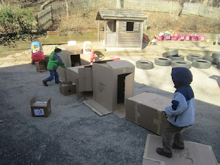 Playfully Learning: Box Play Outside