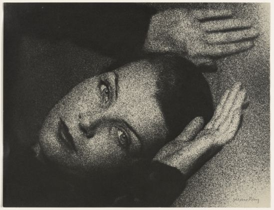 Man Ray. Coarse grain portrait 1940-1949® Man Ray Trust Via getty
