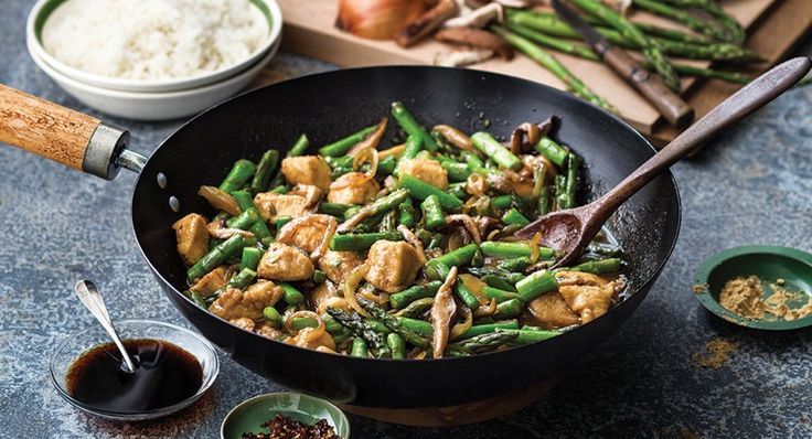 Ginger Chicken Stir-Fry with Asparagus and Shiitake Mushrooms Recipe | McCormick Gourmet Gourmet
