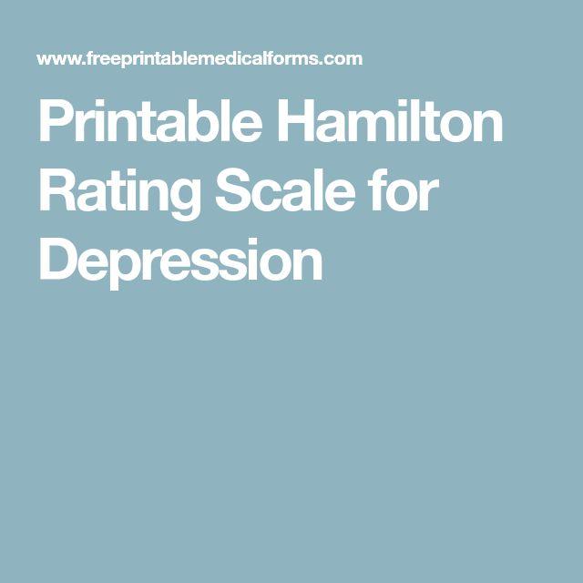 hamilton depression rating scale pdf