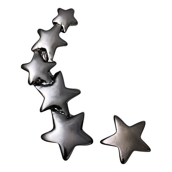 Pilgrim - Black Earrings with Stars